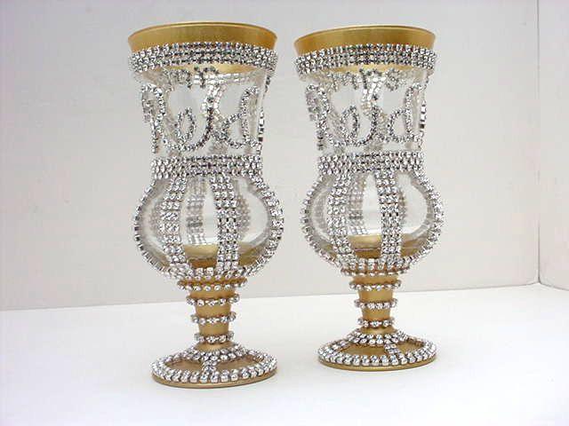 Wedding glasses Toasting flutes Champagne flutes